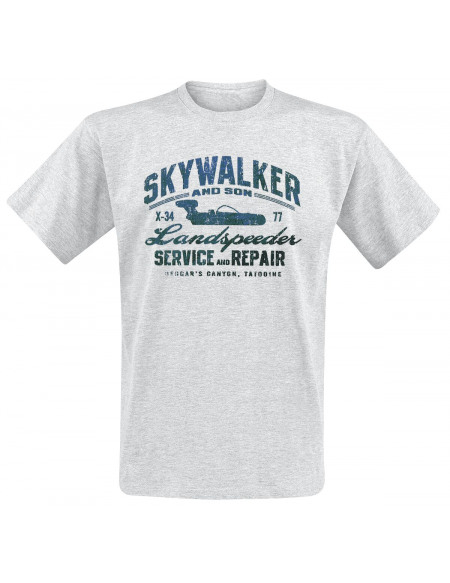 Star Wars Skywalker and Son T-shirt gris chiné