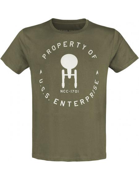Star Trek Property Of U.S.S. Enterprise T-shirt gris