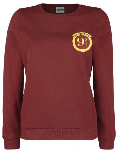 Harry Potter Voie 9 3/4 Sweat-shirt Femme bordeaux
