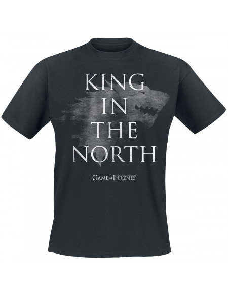Game Of Thrones Stark - King In The North T-shirt noir