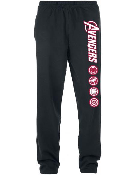 Avengers Logos Pantalon de Jogging noir