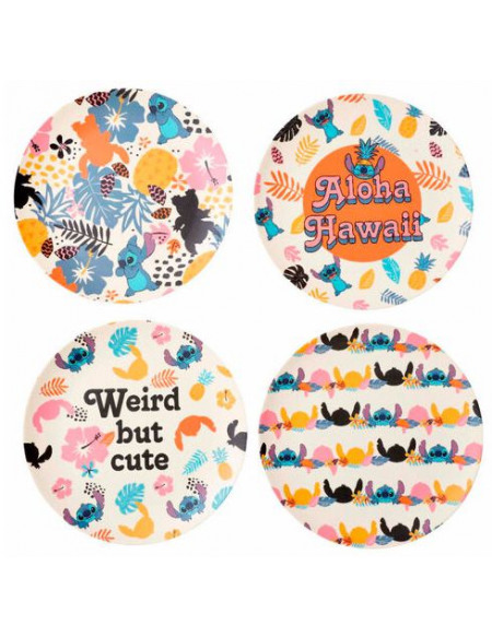 Lilo & Stitch Aloha Hawaï - Lot D'Assiettes Assiette multicolore