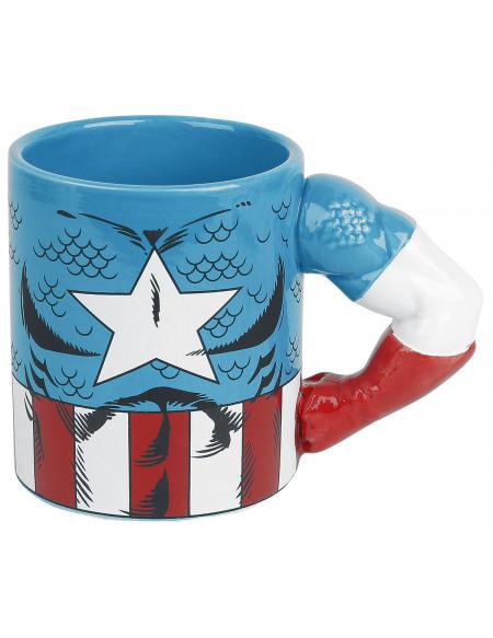 Captain America Mug 3D - Bras Captain America Mug multicolore