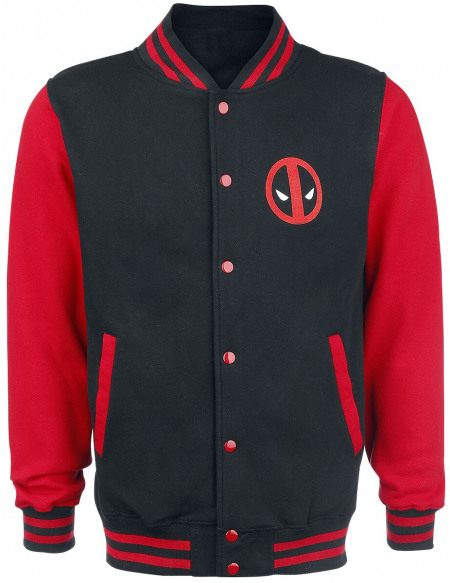Deadpool Logo Veste de Football Américain noir/rouge