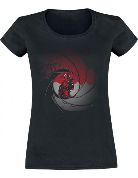 Deadpool Baril De Poudre T-shirt Femme noir