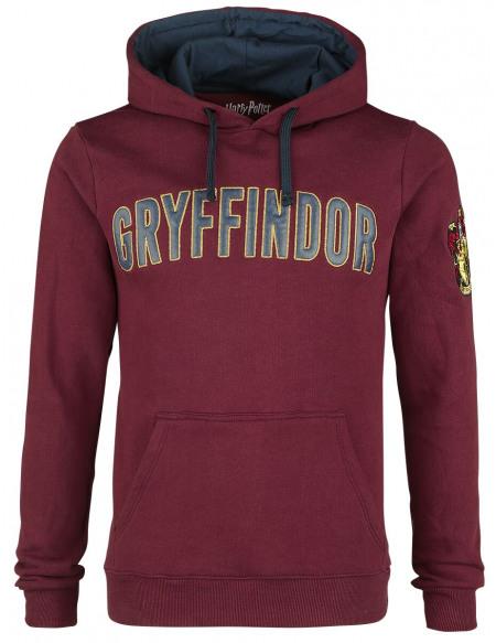 Harry Potter Gryffondor - Logo Sweat à capuche bordeaux