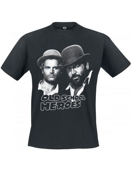 Bud Spencer Oldschool Heroes T-shirt noir