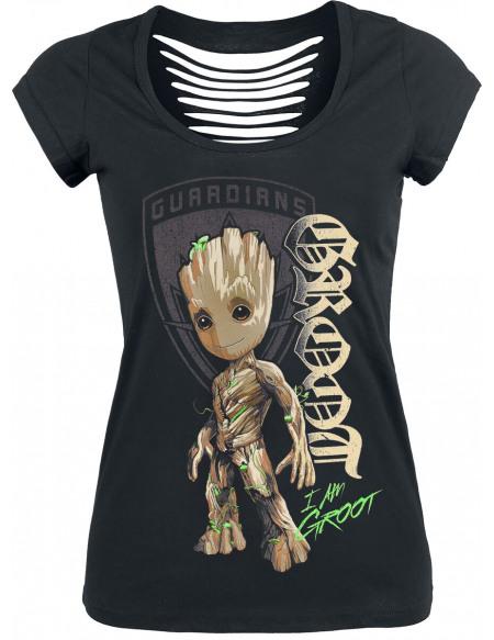 Les Gardiens De La Galaxie Les Gardiens de la Galaxie 2 - Groot T-shirt Femme noir