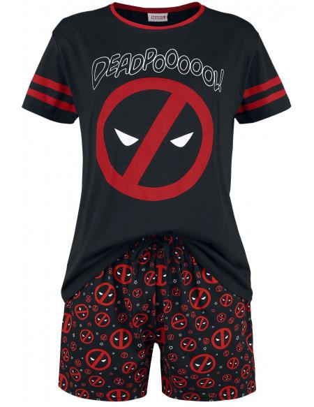 Deadpool Symboles Pyjama noir
