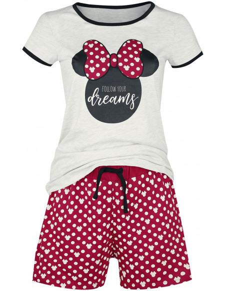 Mickey & Minnie Mouse Minnie Pois Pyjama rouge/blanc