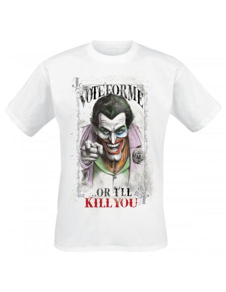 Le Joker Vote For Me T-shirt blanc