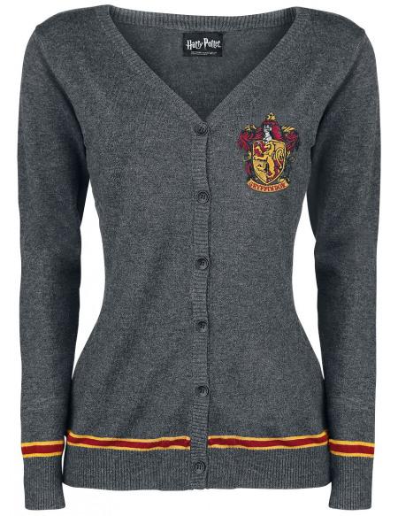 Harry Potter Emblème De Gryffondor Cardigan pour Femme gris chiné