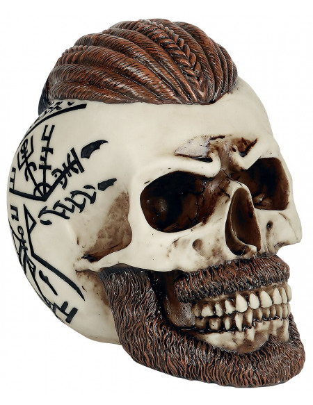 Nemesis Now Crâne Ragnar Crâne décoratif blanc cassé/marron