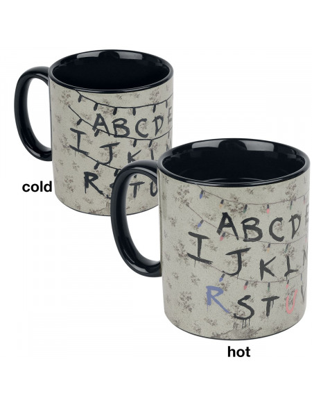 Stranger Things Alphabet - Mug Thermo-Réactif Mug multicolore