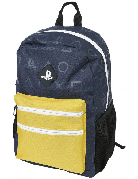 Playstation Colour Block Sac à Dos bleu/jaune