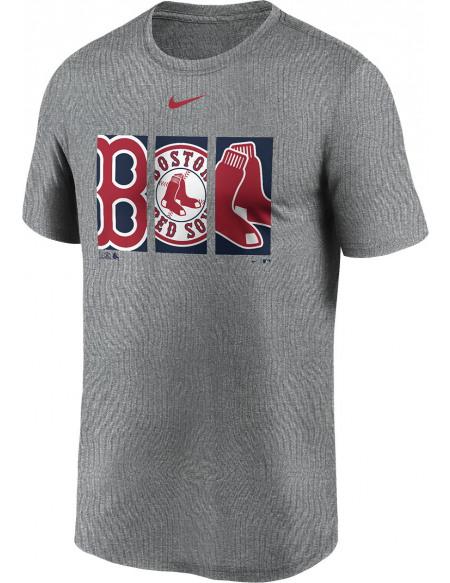 MLB Nike - Boston Red Sox Legends T-shirt gris sombre chiné
