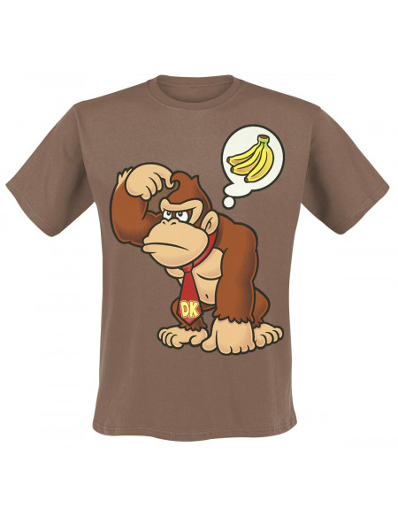 Super Mario Donkey Kong T-shirt marron