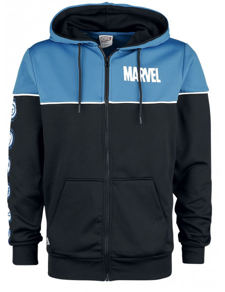 Marvel Icons Sweat Zippé à Capuche bleu/noir