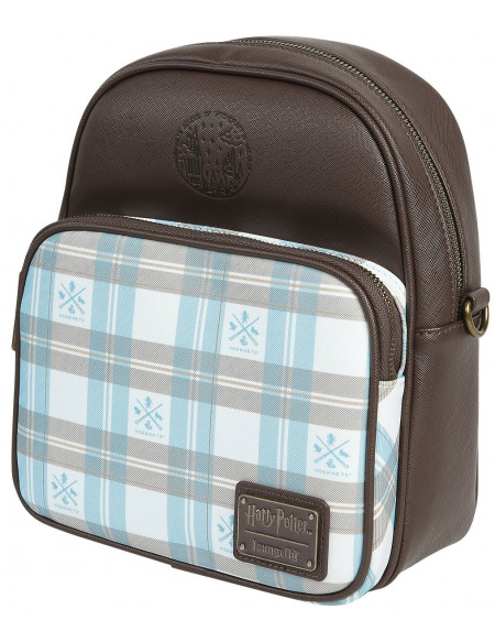 Harry Potter Loungefly - Poudlard Sac à Dos marron/bleu clair