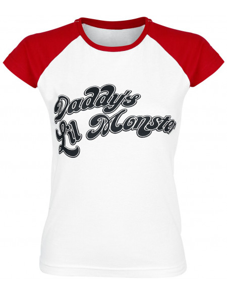 Suicide Squad Daddy's Lil' Monster T-shirt Femme blanc/rouge