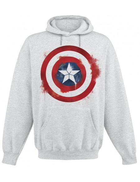 Avengers Endgame - Captain America - Bouclier Sweat à capuche gris chiné