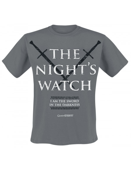 Game Of Thrones Nights Watch T-shirt anthracite