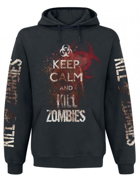 Keep Calm And Kill Zombies Sweat à capuche noir