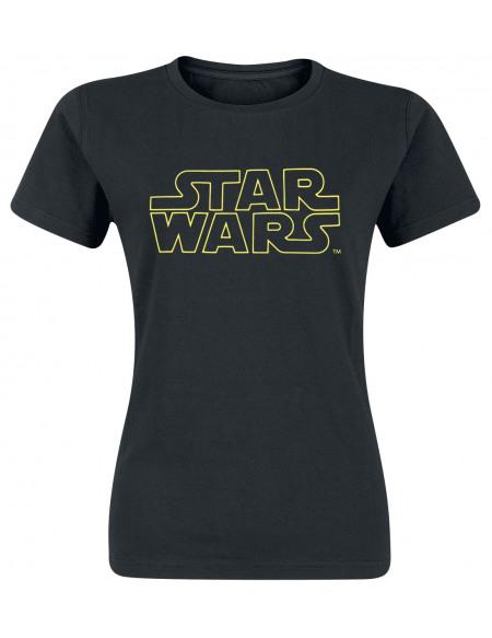 Star Wars Logo T-shirt Femme noir