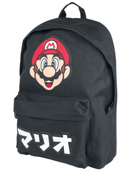 Super Mario Logo Japonais Sac à Dos noir