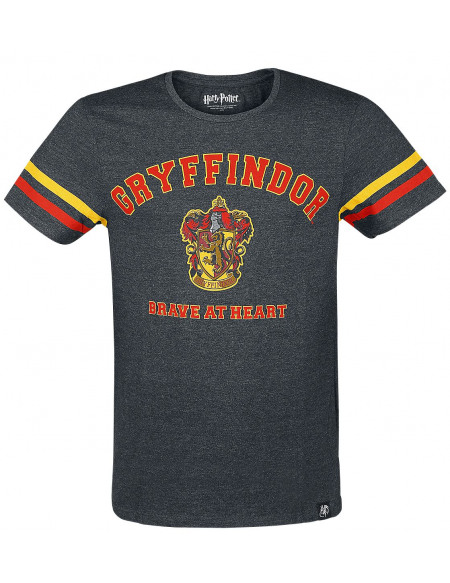 Harry Potter Gryffindor - Brave At Heart T-shirt gris chiné