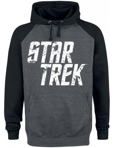 Star Trek Vintage Sweat à capuche noir/anthracite
