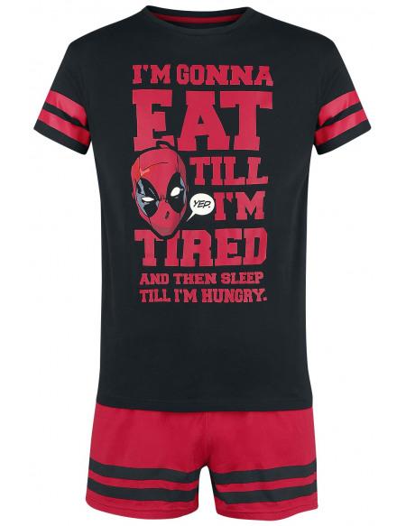 Deadpool Deadpool Pyjama noir/rouge