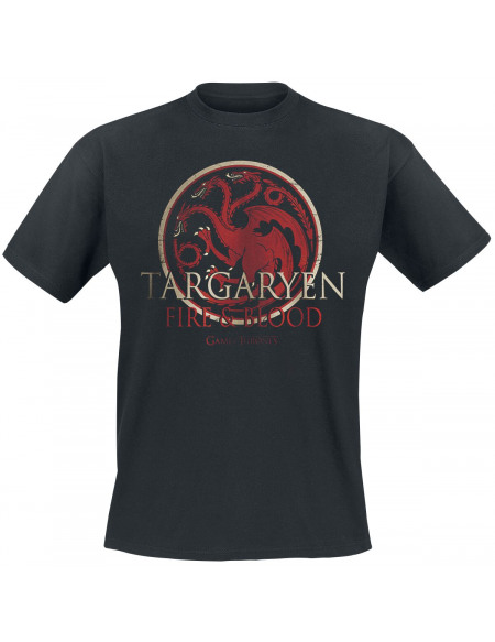 Game Of Thrones Targaryen - Fire And Blood T-shirt noir
