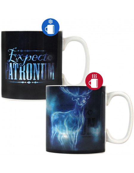 Harry Potter Expecto Patronum - Heat-Change Mug Mug noir