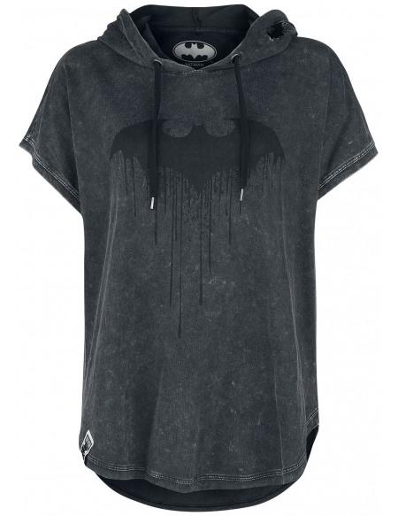 Batman Bat-Logo T-shirt Femme gris foncé