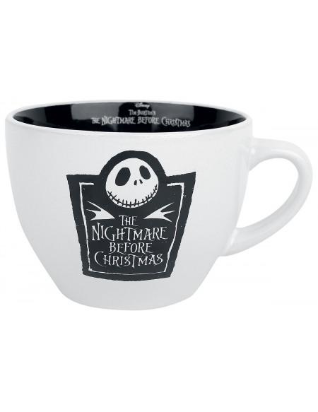 L'Étrange Noël De Monsieur Jack Tasse pour Cappucino Mug noir/blanc