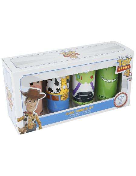 Toy Story Buzz, Woody, Rex & Bayonne Set verres multicolore