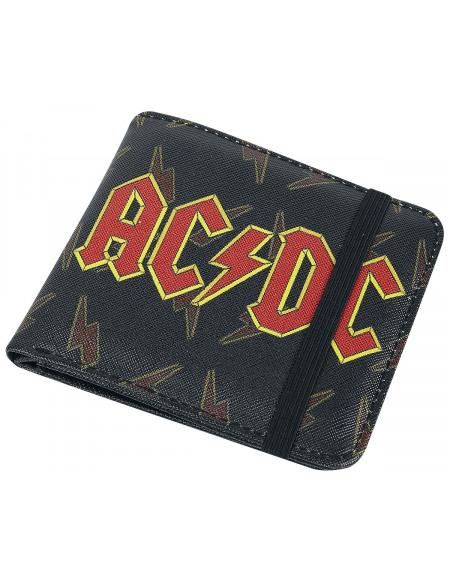 AC/DC Lightning Portefeuille noir