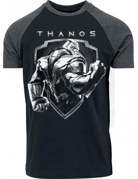 Avengers Thanos - Bouclier T-shirt chiné noir/gris