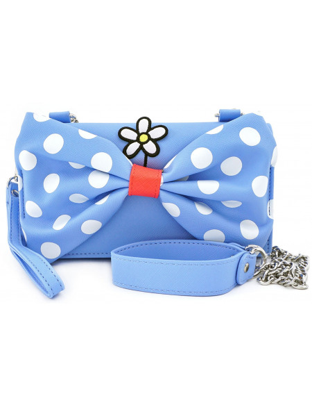 Mickey & Minnie Mouse Loungefly - Pois Minnie Sac à Main bleu/blanc/rouge