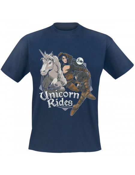 The Witcher Unicorn Rides T-shirt marine