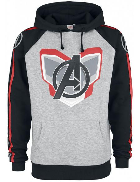 Avengers Endgame - Uniform Sweat à capuche gris chiné/noir
