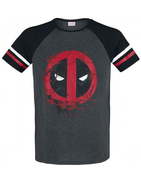 Deadpool Symbole T-shirt gris chiné/noir