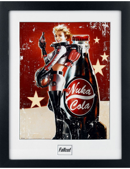 Fallout 4 - Nuka Cola Photo encadrée multicolore