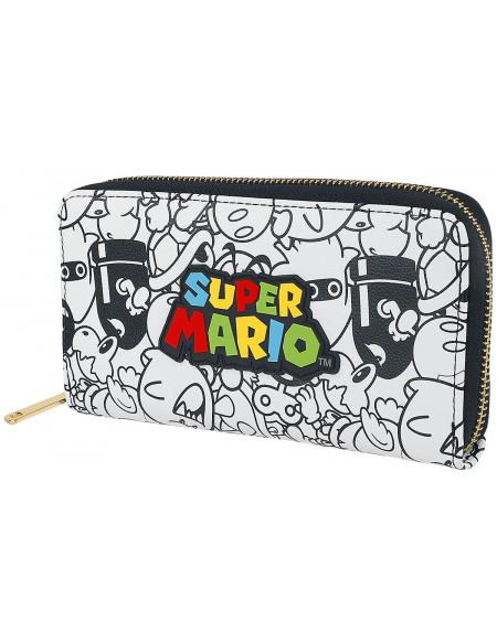 Super Mario Logo Portefeuille multicolore