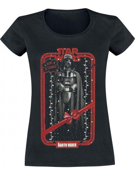 Star Wars Darth Vader - Merry Christmas T-shirt Femme noir