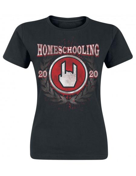 Homeschooling 2020 T-shirt Femme noir