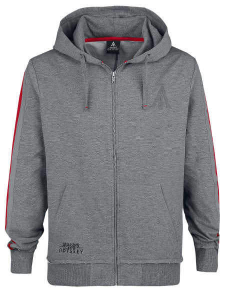 Assassin's Creed Odyssey - Logo Sweat Zippé à Capuche gris chiné