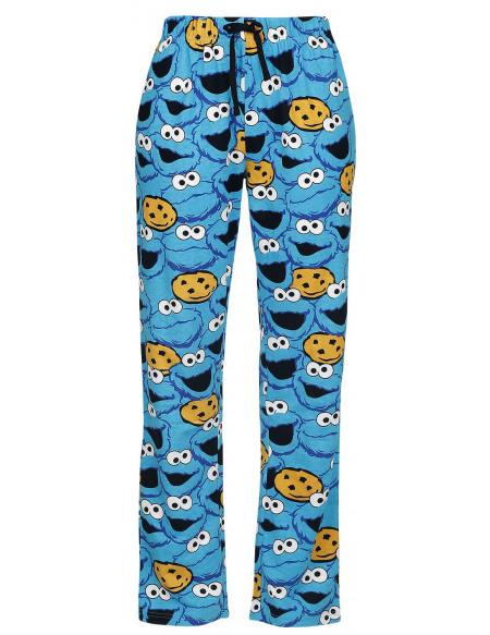 Sesame Street Cookie Monster - Tête Bas de pyjama bleu