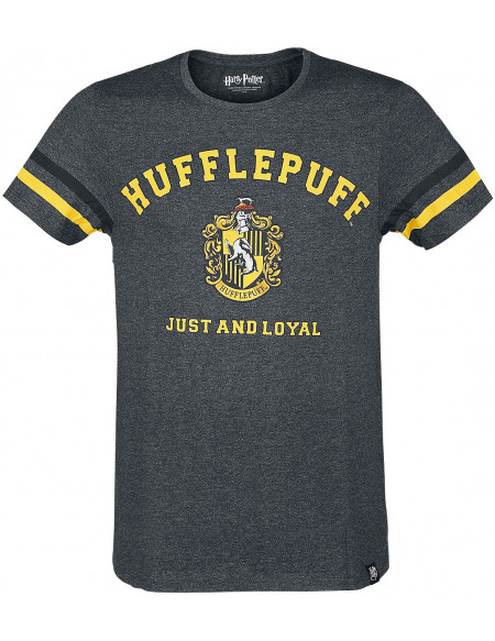 Harry Potter Hufflepuff - Just And Loyal T-shirt gris chiné
